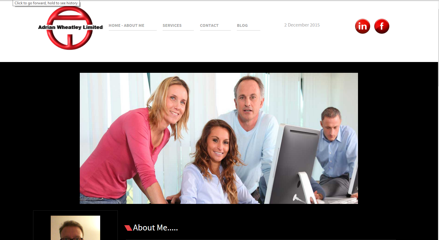 A small business website offering HR services, coaching,