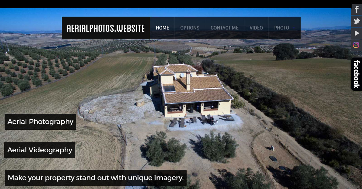 Aerialphotos.website is a new business website offering aerial photography and videography in Andalucia.